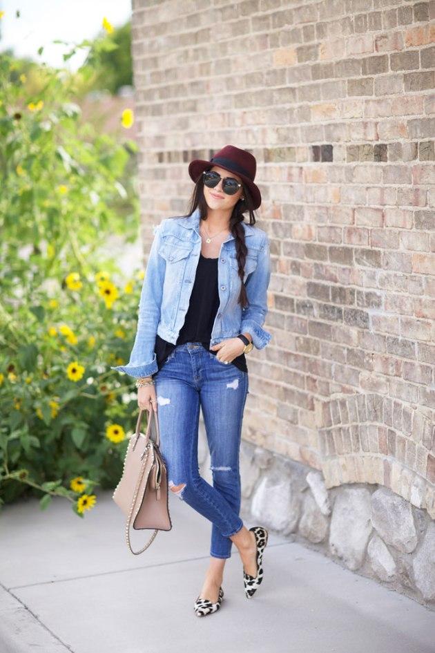 distressed-skinny-jeans-current-elliott-fedora-hat
