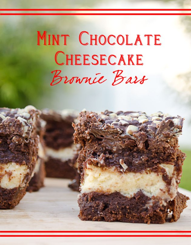 Mint Chocolate Cheesecake Brownie Bars Recipe | The Classified Chic