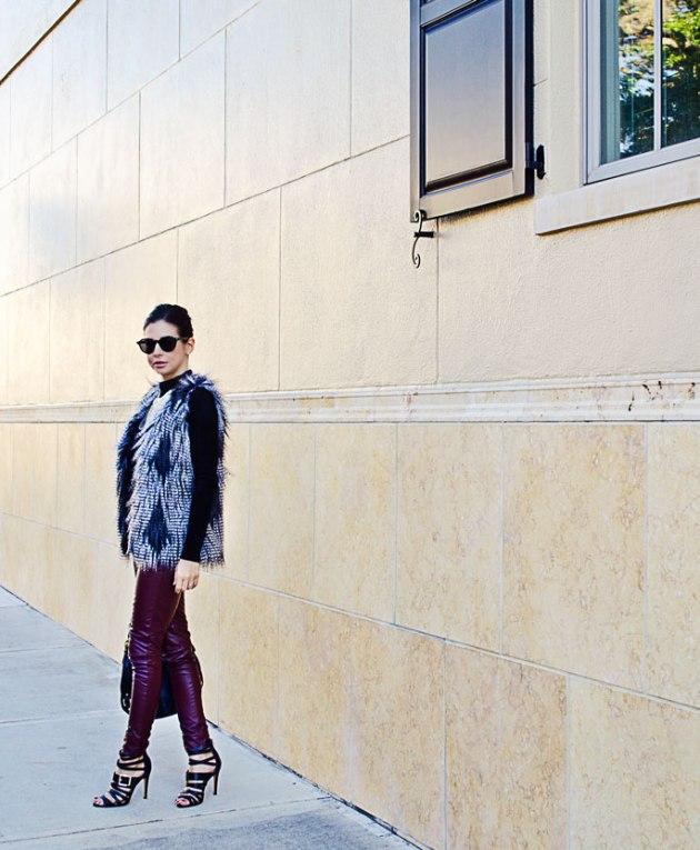 burgundy-faux-leather-leggings-and-faux-fur-vest