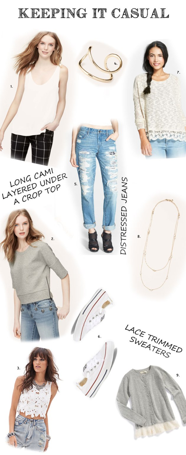 Casual-Spring-Outfit-Ideas-Lace-Trimmed-Sweaters and Shirts-Layered-Shirts-Delicate-Necklaces