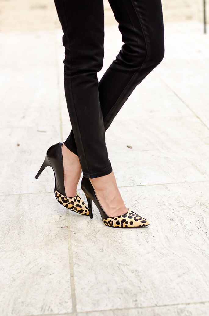 leopard print heels | The Classified Chic