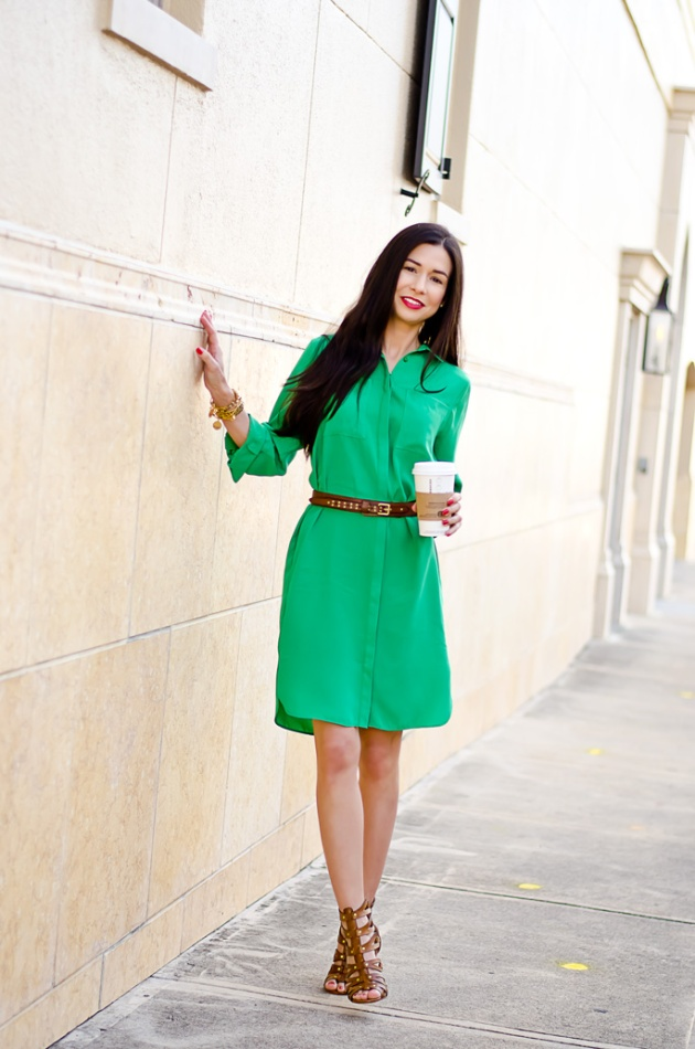 ootd-dorothy-perkins-green-shirt-dress-chinese-laundry-caged-high-heel-sandals-4