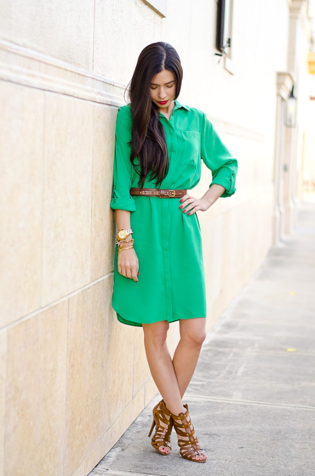 ootd-dorothy-perkins-green-shirt-dress-chinese-laundry-caged-high-heel-sandals-5
