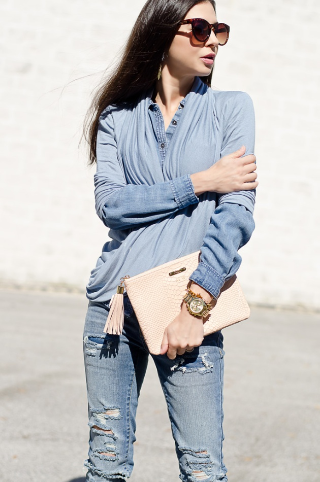 chambray-shirt-loft-gigi-new-york-all-in-one-clutch-1