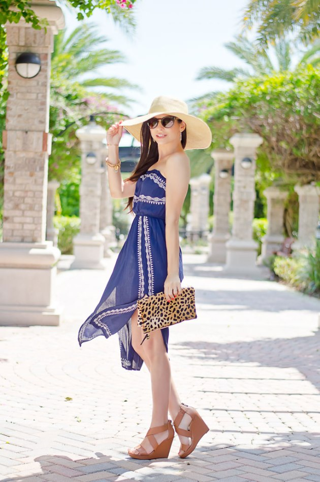 outfit-of-the-day-embroidered-strapless-dress-for-spring-ASTR-1