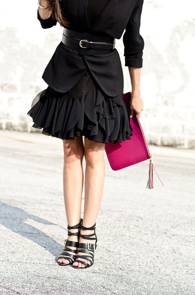 outfit-of-the-day-the-modern-version-of-the-little-black-dress-tildon-ruffle-hem-linea-pelle-black-belt-1