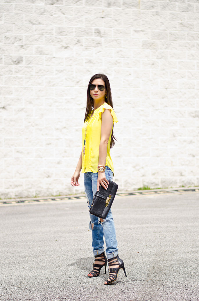 Yellow Blouse Outfit 81