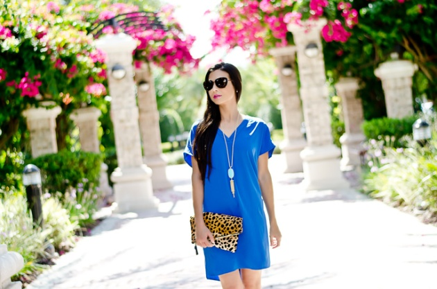 maggy-london-blue-dress-clare-v-foldover-leopard-clutch