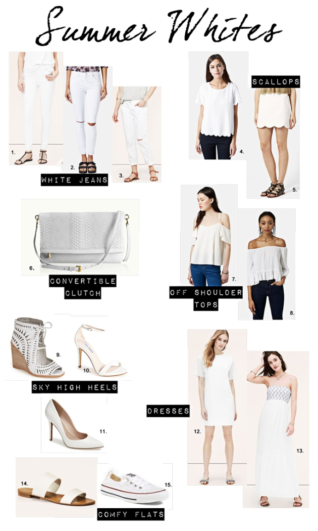 The perfect white pieces to put together the ultimate summer look