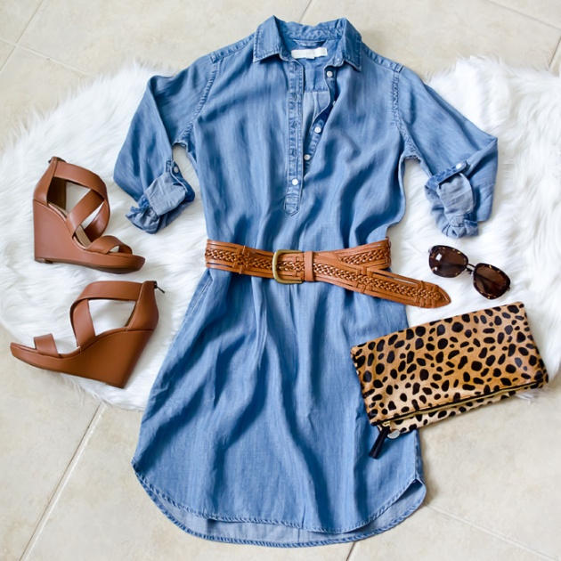 Chambray-Dress-&-Linea-Pelle-Belt